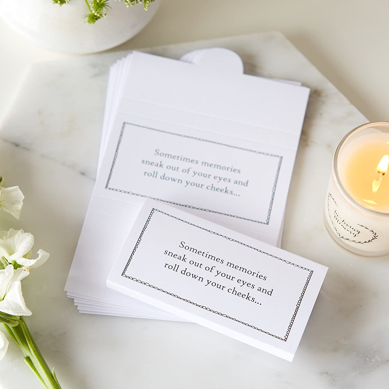 Amazon.com: 25 tarjeta blanca Funeral tela Wraps