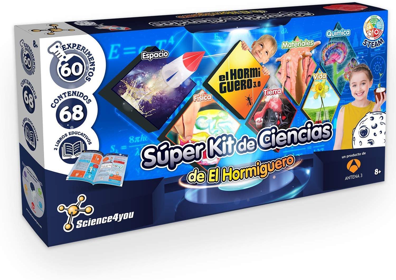 Science4you-Super Kit de Ciencias de El Hormiguero – Juguete Científico y Educativo-60 Experimentos y un Libro Educativo, Regalo Original para Niños de 8 Años y más (80002755)