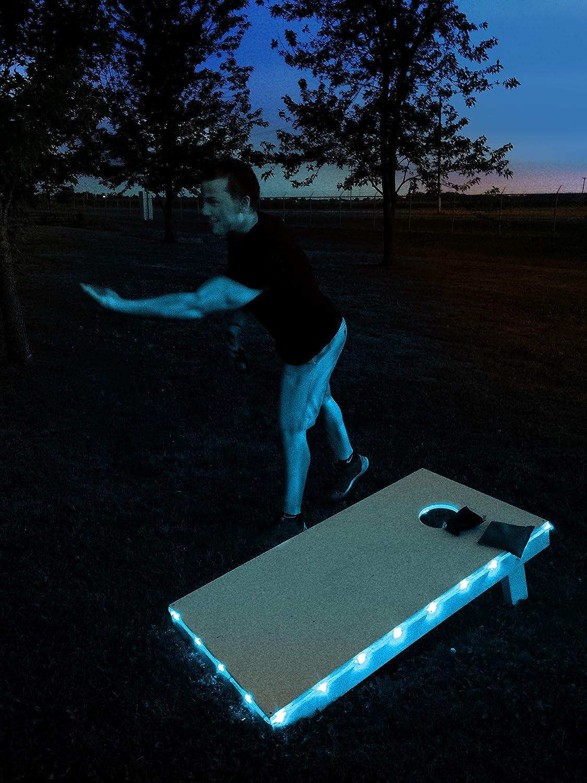Brightz TossBrightz Cornhole//Bean Bag Game LED Lighting Kit Lights Only, No Boards