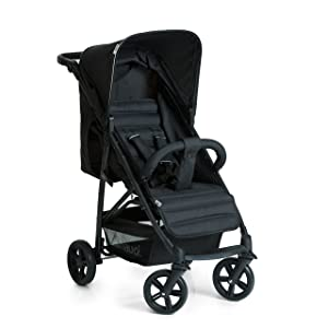 Hauck Rapid Four Wheel Pushchair, Caviar/Black