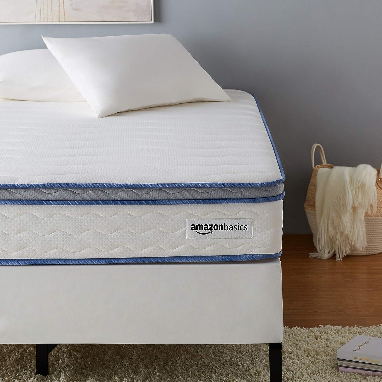 AmazonBasics Hybrid Mattress - Memory Foam With Strong Innerspring Support - Medium Feel - CertiPUR-US - 10-Inch, Full