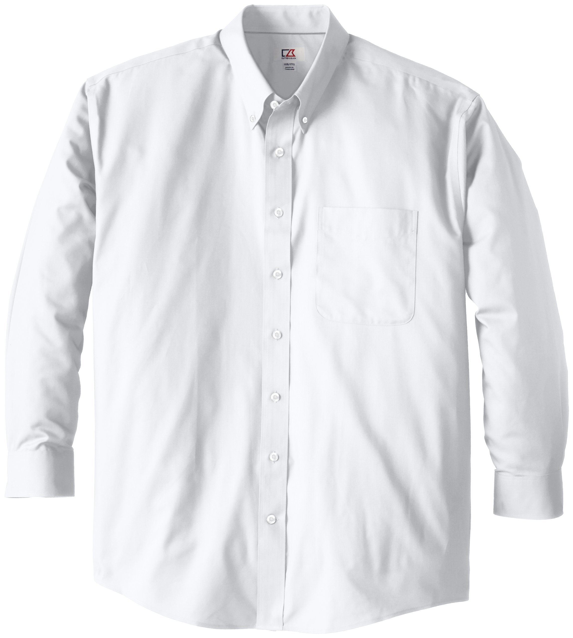 Cutter & Buck Men's Big-Tall Epic Easy Care Fine Twill Shirt, White, 3XT