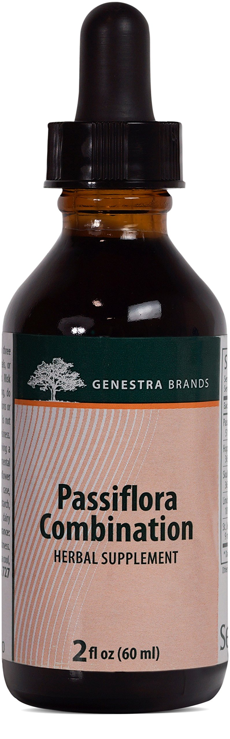 Genestra Brands - Passiflora Combination - Passionflower, Hops, Skullcap, American Basswood and St. John's Wort - 2 fl oz (60 ml) by Genestra Brands (Image #1)