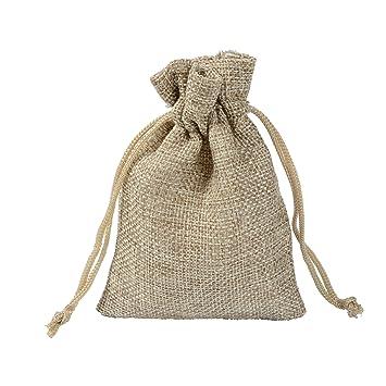 YunNasi Bolsas de yute rústicas para boda, bolsa de recuerdo ...