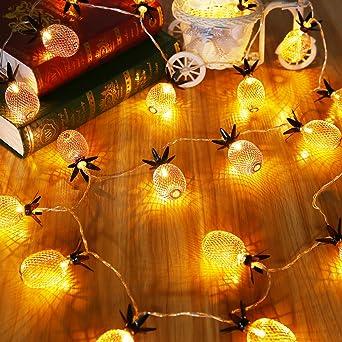 Fesselnd LED Lichterkette, Elfeland 20er 2,2m LED String Lights Ananas  Form  Batteriebetrieben Als