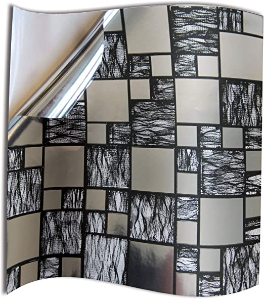 24pc Bathroom Black Silver Chrome Tile Stickers Transfers For Kitchen 6x6 Inch 15x15cm Wall Tiles Flat 2d Printed Vinyl Tile Transfers Kitchen Silver