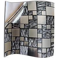 24x Cromo negro plateado Lámina impresa 2d PEGATINAS