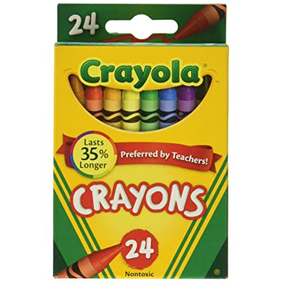 Crayola Crayons 24 Count Box- (6-Pack): Toys & Games
