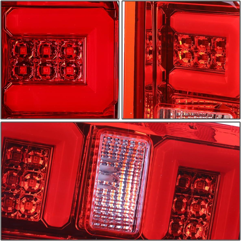 DNA Motoring TL-CSIL15-LED-RD3D-CH-RD 3D LED Tail Light Assembly 15-17 Chevy Silverado//GMC Sierra 1500 2500 3500 HD