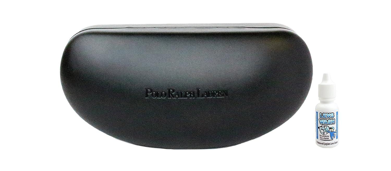 324de0c755b7 Polo Ralph Lauren Sunglass Case, Black, free LensWash at Amazon Men's  Clothing store: