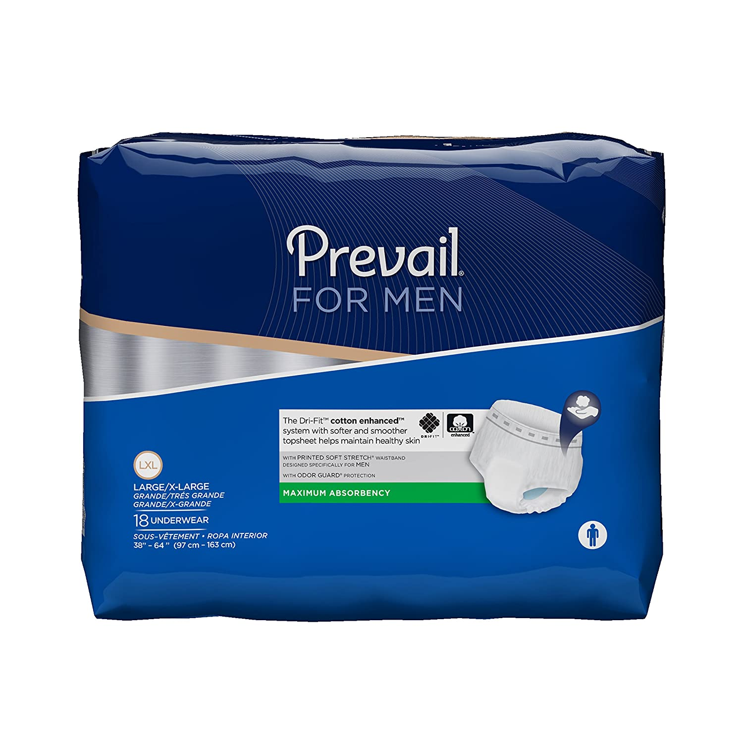 Amazon.com: Prevail Maximum Absorbency Incontinence Underwear for Men, Small/Medium, 18-Count (Pack of 4): Health & Personal Care