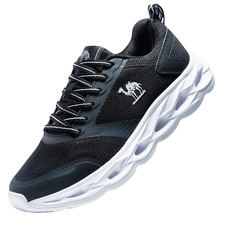 CAMEL CROWN Zapatillas de Running Deporte y Aire Libre Hombres Zapatos Entrenamiento de Correr montañ a Calzado Gimnasio Atletismo Có modo Ofertas Gris Negro