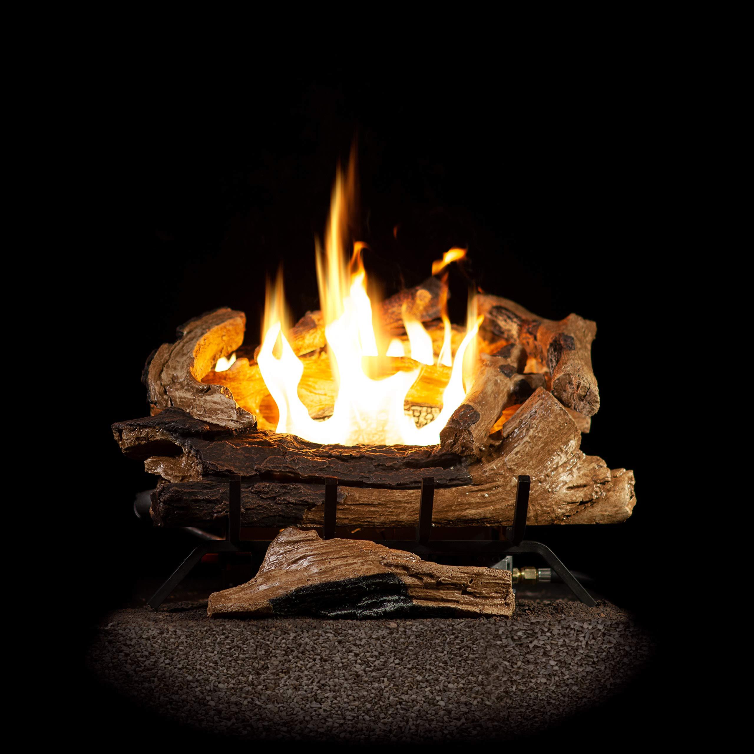 Sure Heat PE18VFRLP Premier Estate Propane Vent Free Gas Log Set, 18'', by Sure Heat