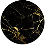 Black Gold Marble 2 Stickers Set for Pop Grip Stent for Phones and Tablets (Stickers