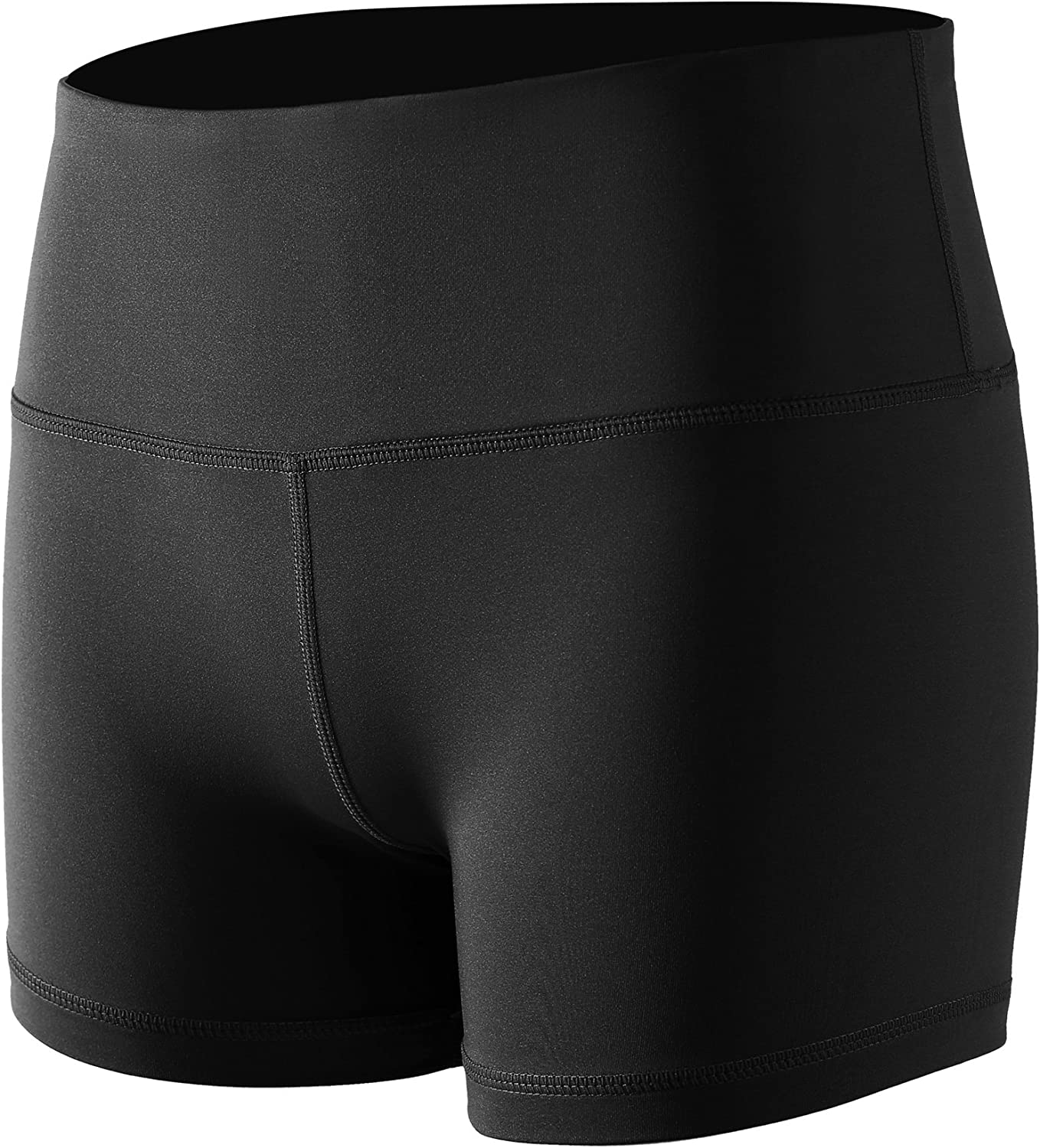 Cadmus Womens High-Waist Compression Athletic Workout Running Shorts with Pocket