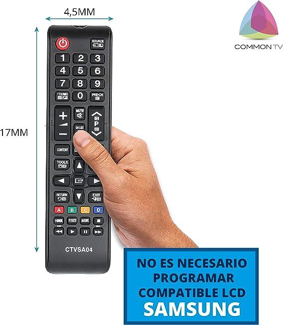 Common TV CTVSA04 Mando a Distancia Universal para Control Remoto de televisores Samsung, sin configuración, ergonómico: Amazon.es: Electrónica