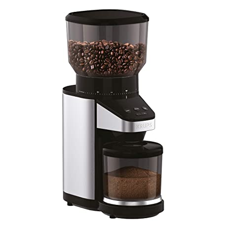 Krups Gx420851 Coffee Grinder With Scale 39 Grind Settings Large 14 Oz Capacity Intuitive Interface Black