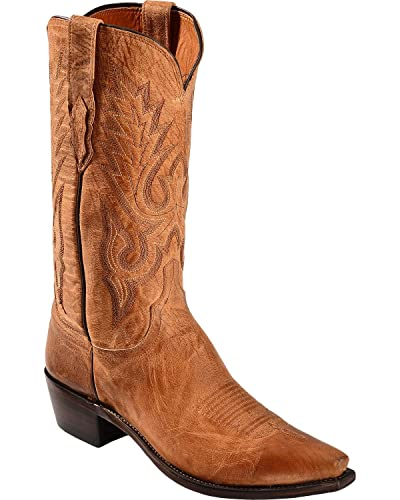Lucchese Men's Handcrafted 1883 Mad Dog Goatskin Cowboy Boot Snip Toe Tan 7  D(M