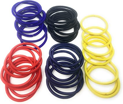 40 HAIR ELASTICS BOBBLES HAIR BANDS HAIRBANDS ASSORTED COLOUR 2 DIFFERENT SIZES