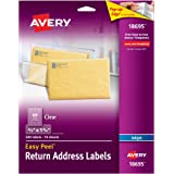 Avery Easy Peel Clear Return Address Labels for Ink Jet Printers, 2/3 X 1.75-Inches, Pack of 600 (18695)