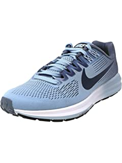 b81a5f321c8 Nike Women s Air Zoom Structure 21 Armory Blue Armory Navy Ankle-High Mesh  Running