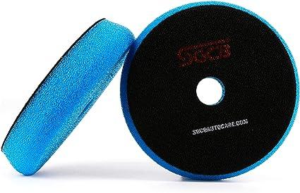 Blue Polishing Sponge medium 180mm hook /& loop velcro polish car buffing head