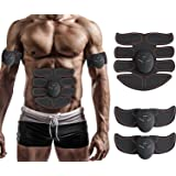 Muscle Toner, Abdominal Toning Belt, EMS ABS Trainer Wireless Body Gym Workout Home Office Fitness Equipment For Abdomen/Arm/Leg Training Men Women By JIA LE
