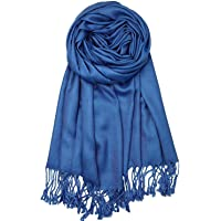 """Pashmina Cashmere Feel Shawl Scarf Wrap Soft Solid Color Shawls Wrap for Women (78×27"""")"""