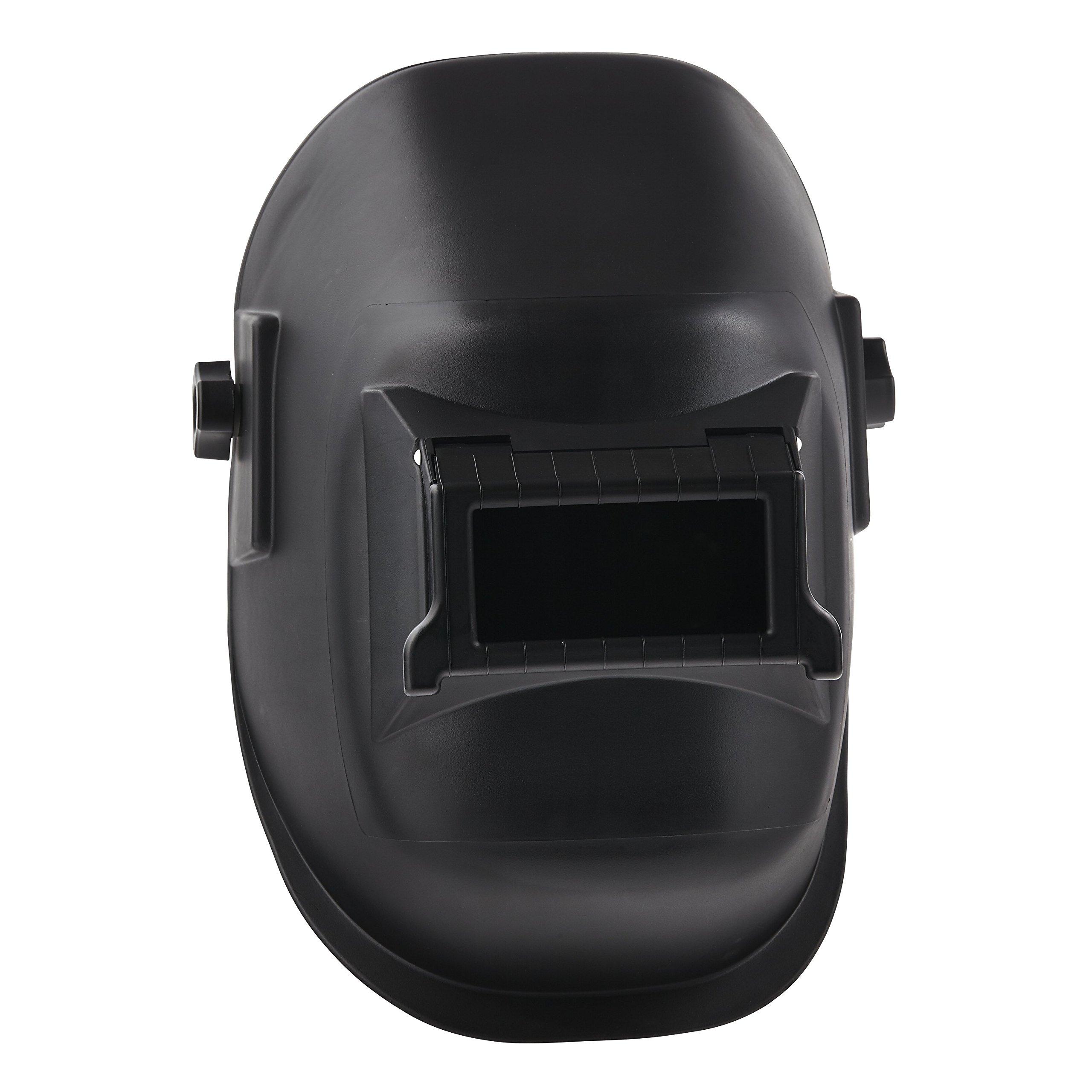 Sellstrom S29301 All-Purpose Welding Helmet 2'' x 4 1/4'' Sel-Snap Lift Front, Black Nylon w/Ratchet Headgear, Made in USA by Sellstrom