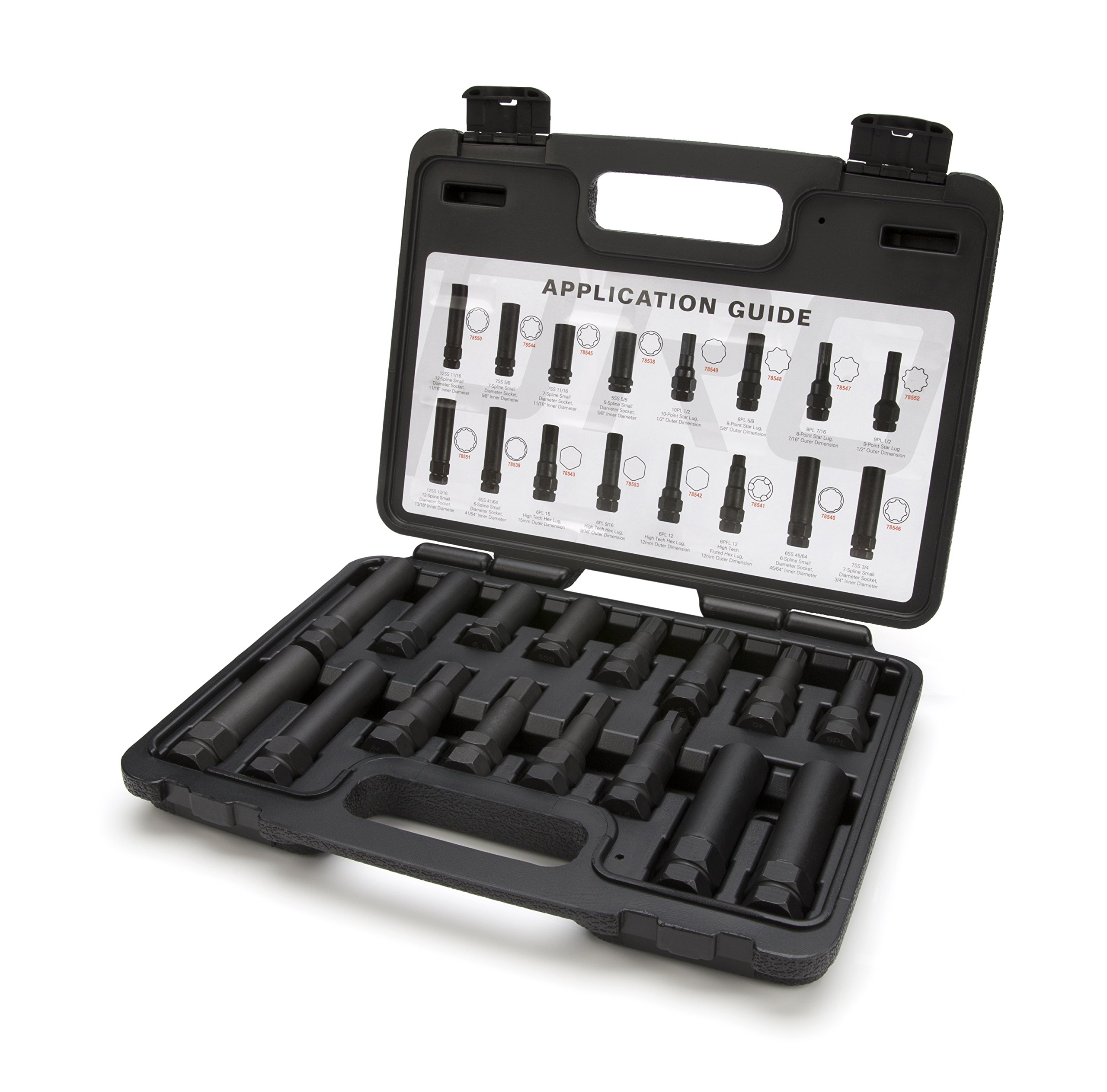 Steelman Pro 78537 16-Piece Locking Lug Nut Master Key Set