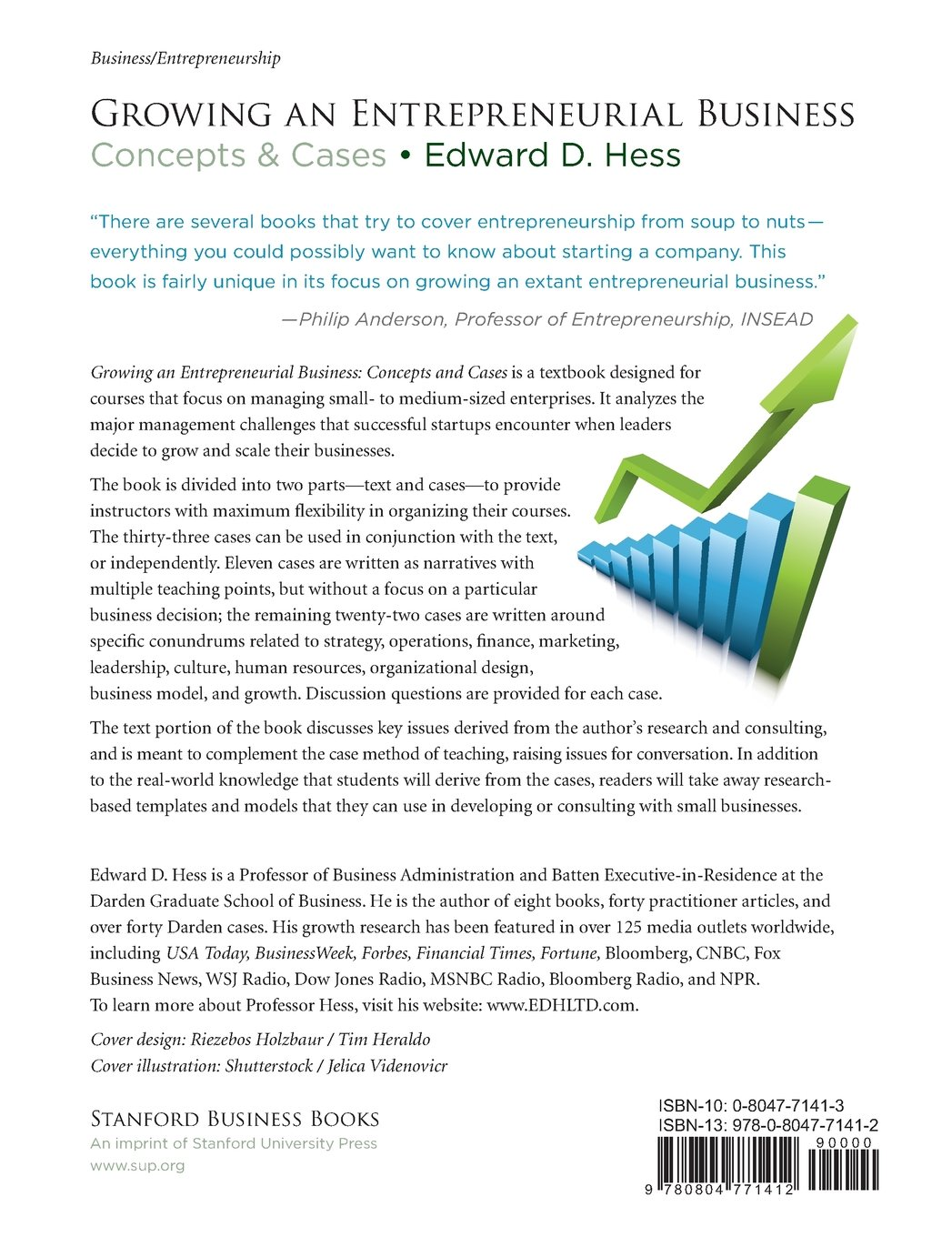 Growing An Entrepreneurial Business: Concepts U0026 Cases: Edward D. Hess:  9780804771412: Amazon.com: Books