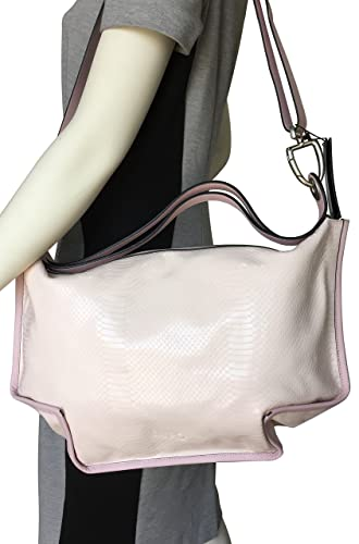 LUPO Barcelona Ladies Bag Snakeskin Print on Light Pink Genuine Calfskin Patent Leather Square Handbag: Handbags: Amazon.com