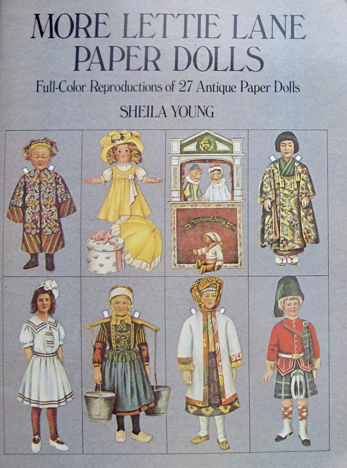Around The World Party Ethnic More Lettie Lane Paper Dolls Book (Uncut) w Color Reproductions of 27 Antique Paper Dolls 1909-1911 & Costumes (1981