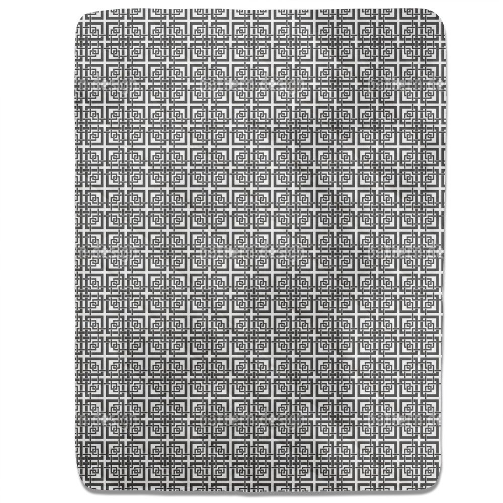 Chinese Window Lattice Fitted Sheet: King Luxury Microfiber, Soft, Breathable