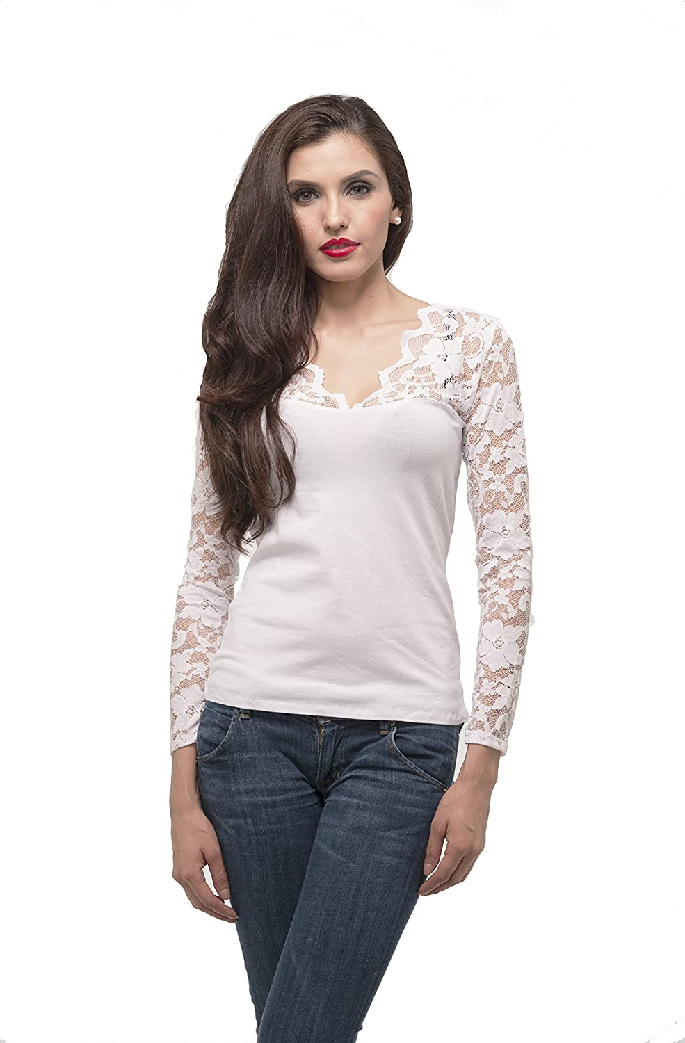 Hollywood Star Fashion Women's Long Sleeve V Neck Top