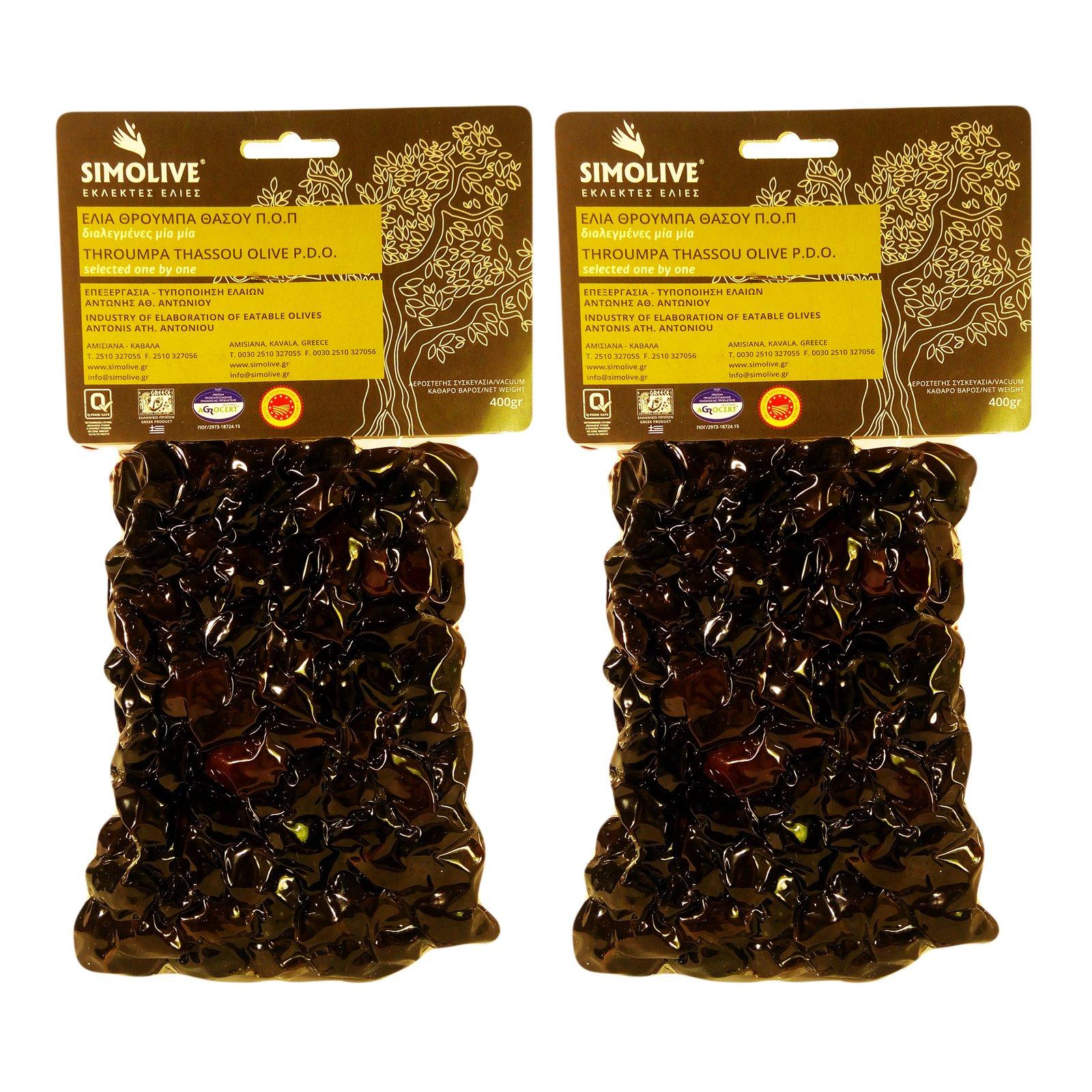 Simolive Greek Throuba Olives from Thassos 800 gr Vacuum-sealed