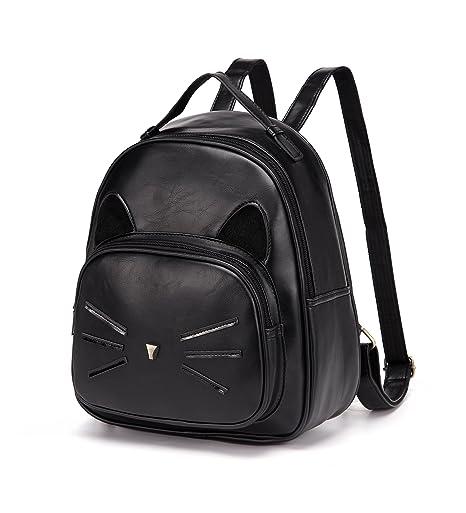 2a67cd5648 Amazon.com  DIOMO Mini Women Backpacks Cute Cat Girls Daypack Rucksack Small  Bags (Mini