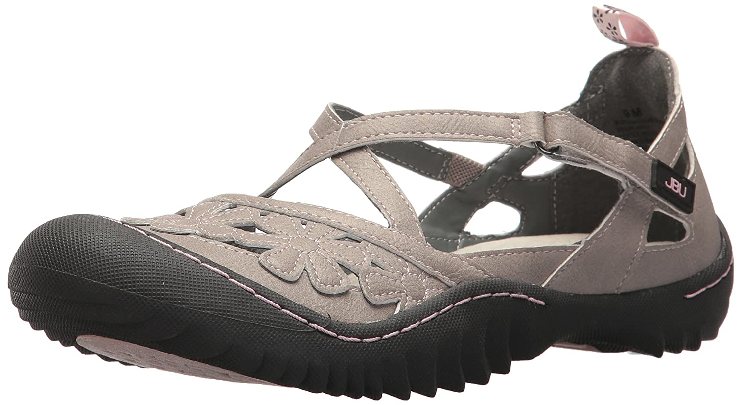 JBU by Jambu Women's Blossom Vegan Mary Jane Flat B074KQ12S8 6 B(M) US|Cement