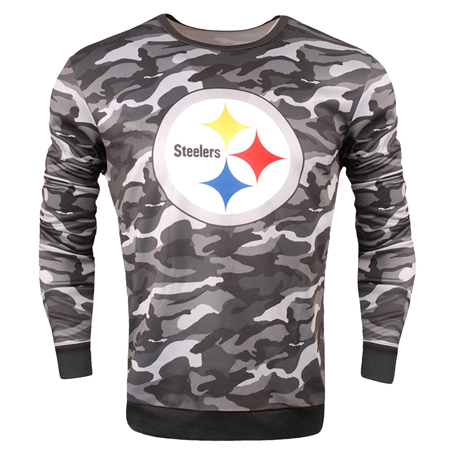separation shoes 2c863 51d91 Amazon.com: NFL Pittsburgh Steelers Camo Sweatshirt: Clothing