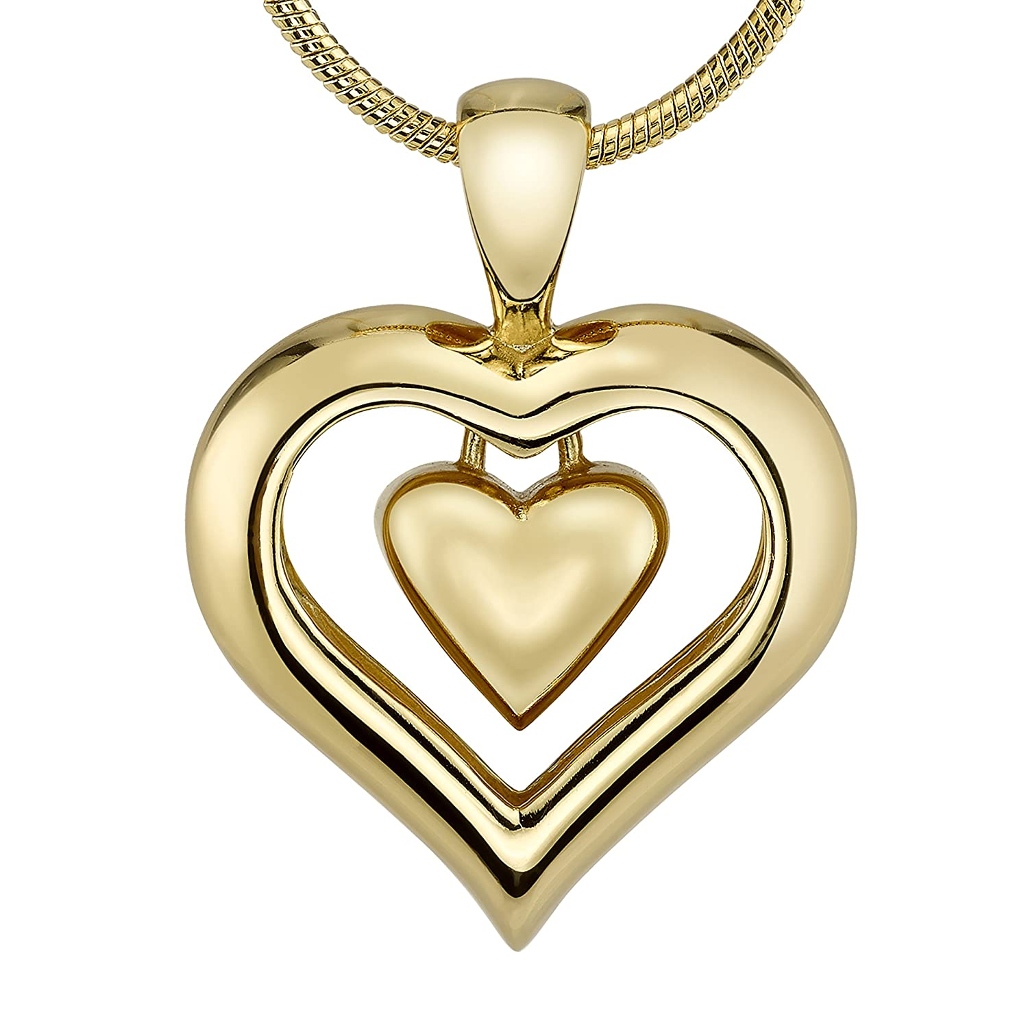 The Eternity Heart 18kt Gold Finish Cremation Jewelry Urn ...
