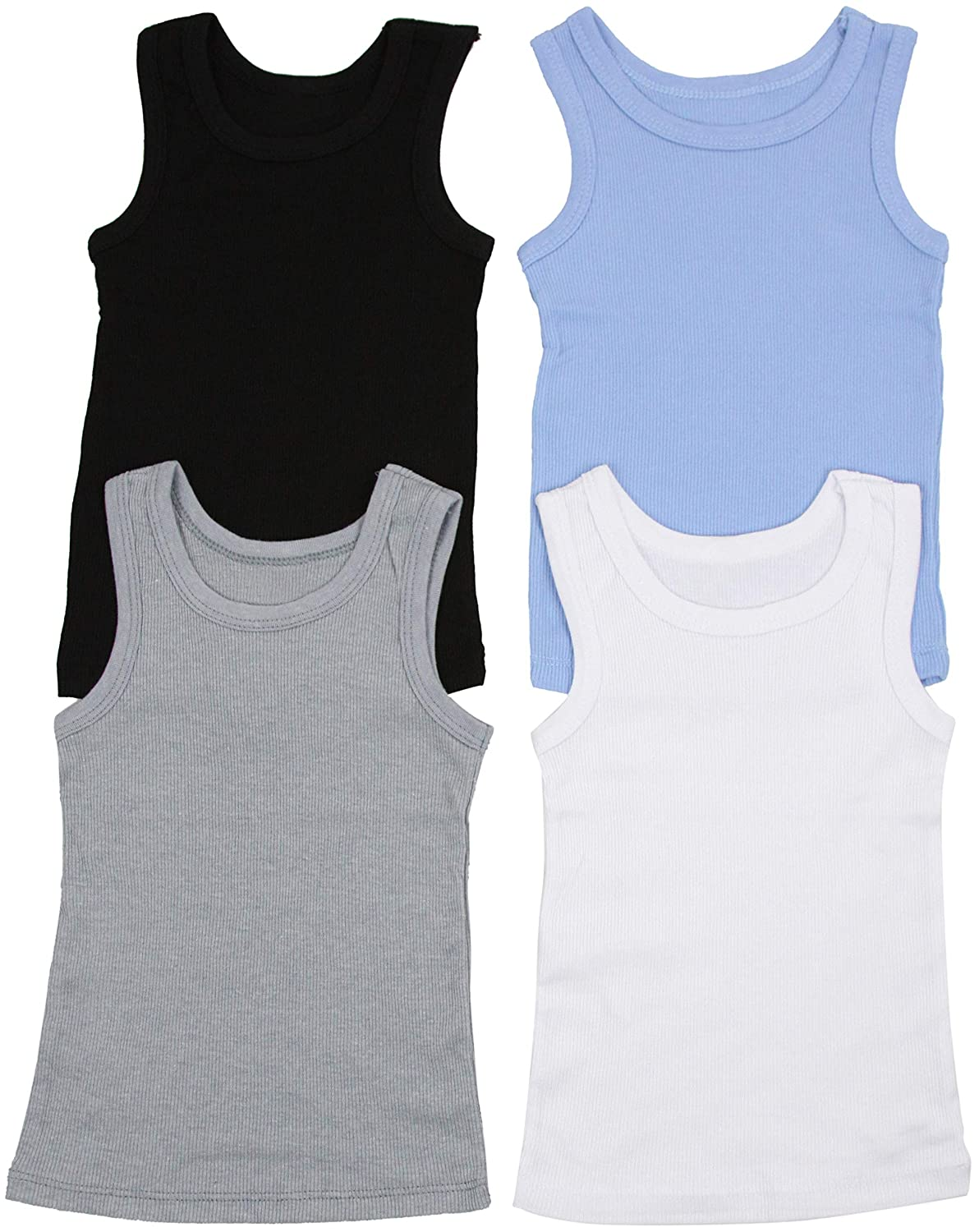 ToBeInStyle Boy's Pack Of 4 Tank Tops