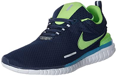 Nike Men's Free Og Br Blue and Green Running Shoes - 7 UK/India (