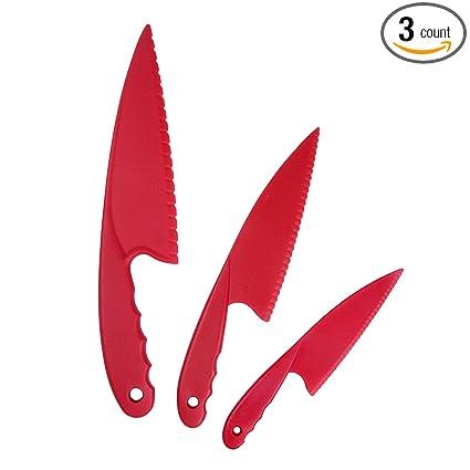 Amazon.com: Cuchillo de cocina 3 piezas Rojo para Niños ...