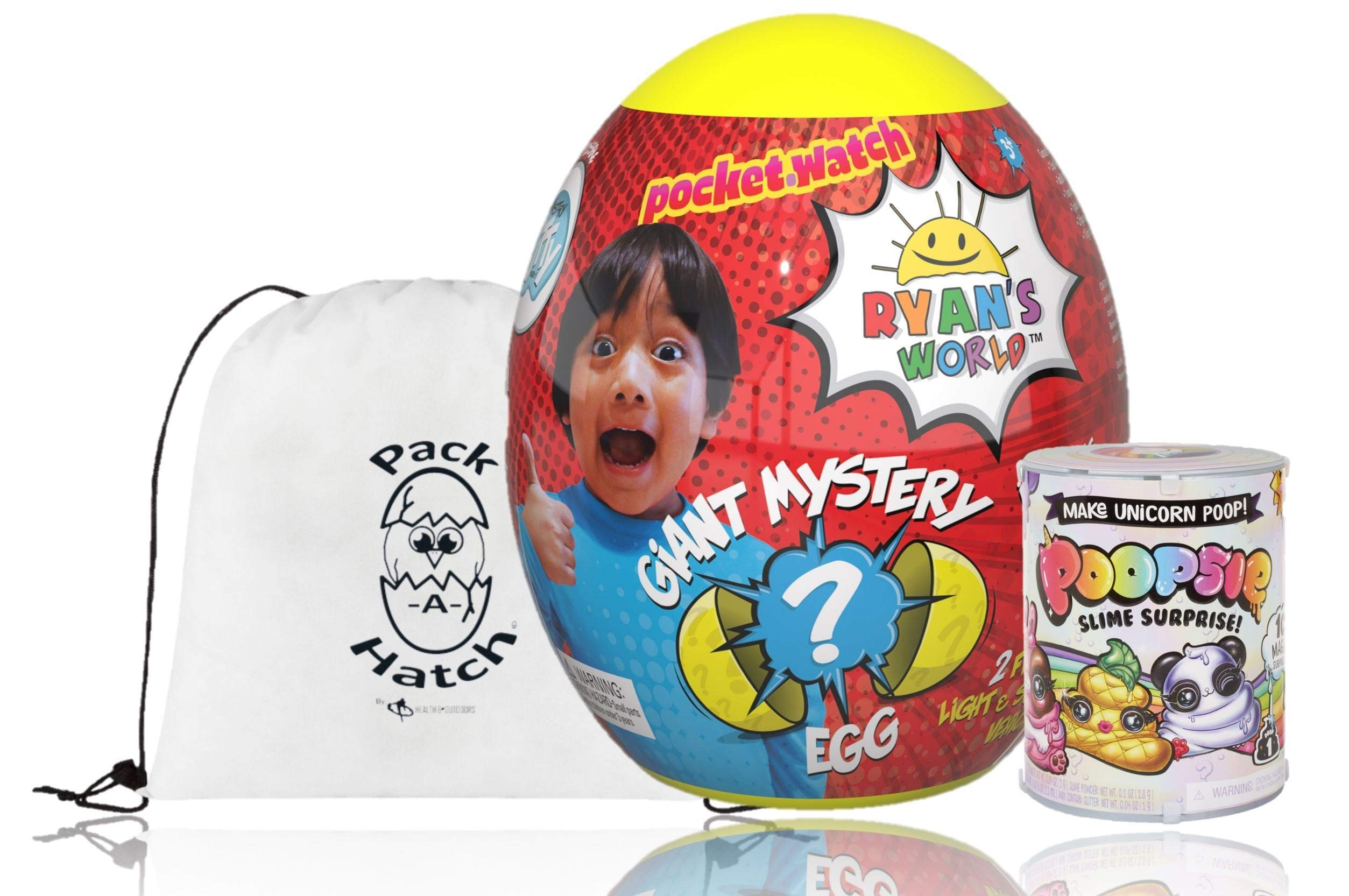 Poopsie Ryan's World Mystery Egg and Pack of Unicorn Slime W/ Pack a Hatch