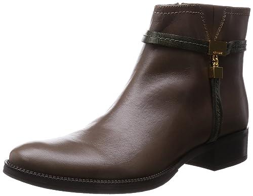 Abundante Diplomacia espejo  Buy Geox Respira Ladies Dove Grey/Olive Ankle Boots (37 EU / 4 UK) at  Amazon.in