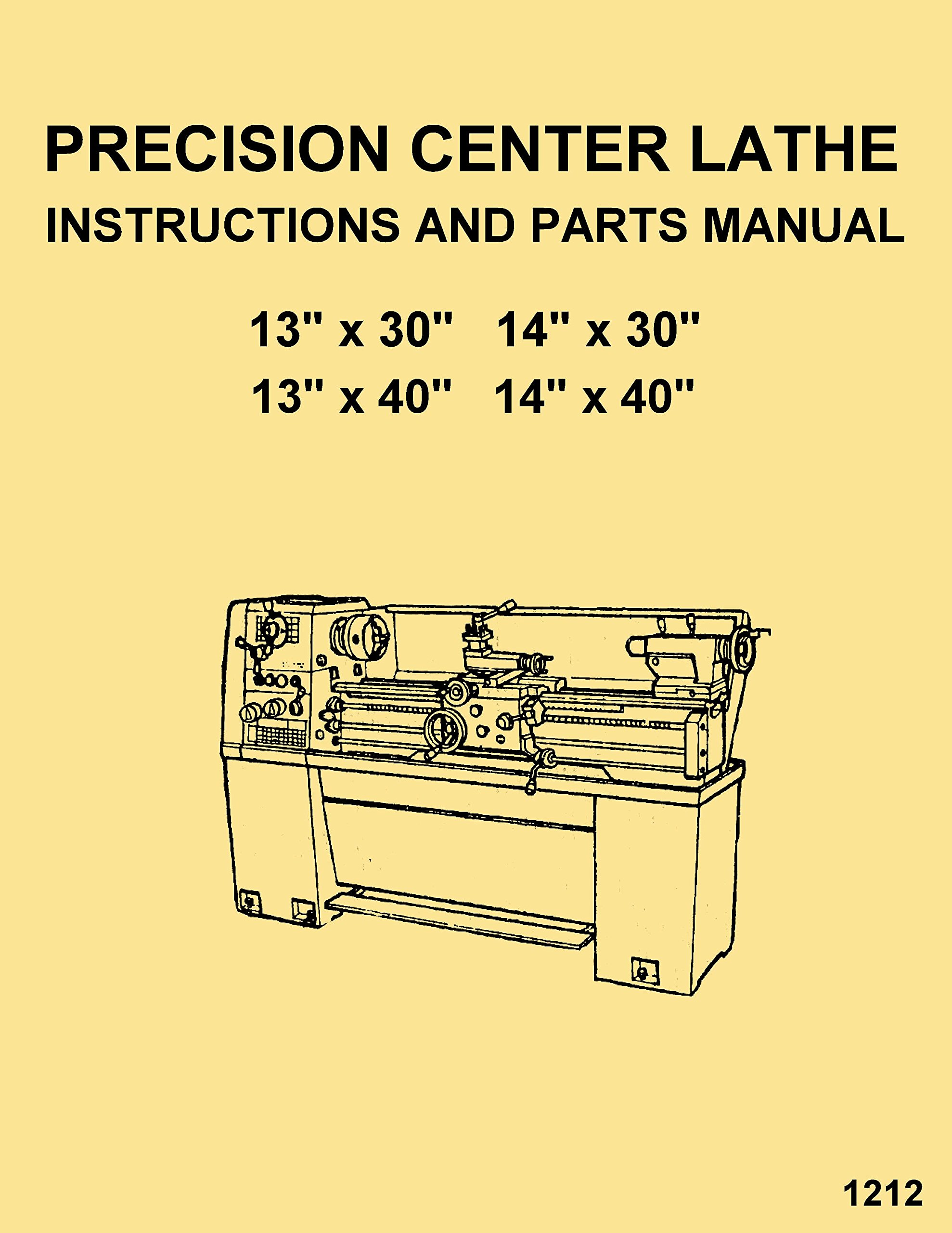 Enco, Warco, JET, Asian 1330 1340 1430 1440 Metal Lathe Instructions  Operator's & Parts Manual: Misc.: Amazon.com: Books