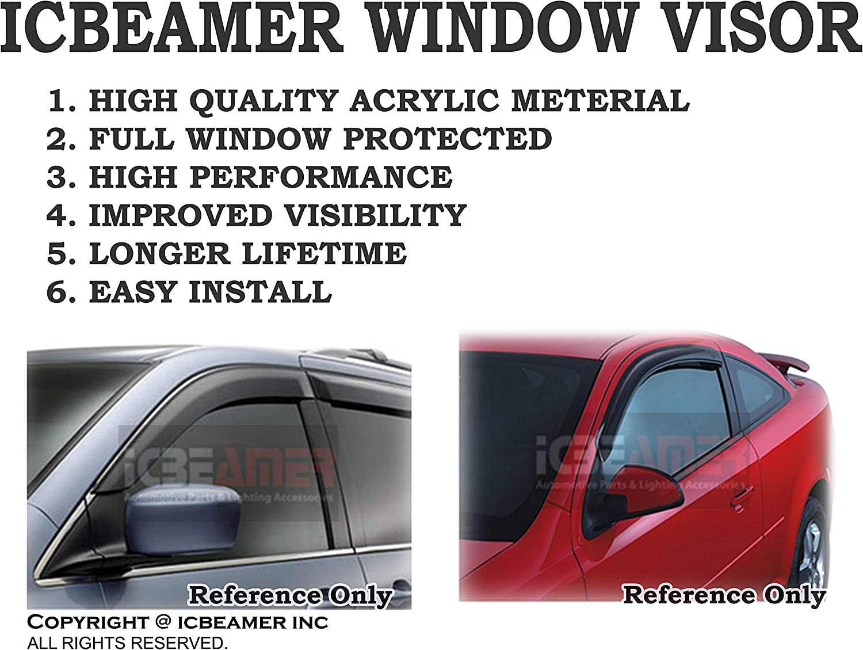 Rear Roof Window Sun Rain Shade Visor Spoiler Wing fits 92-95 Honda Civic Coupe