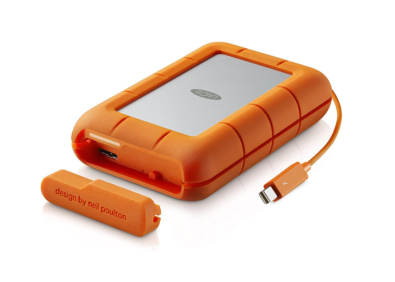 Amazon.com: LaCie Rugged RAID 4TB, Thunderbolt and USB 3.0 Portable Hard  Drive + 1mo Adobe CC All Apps (STFA4000400): Computers & Accessories