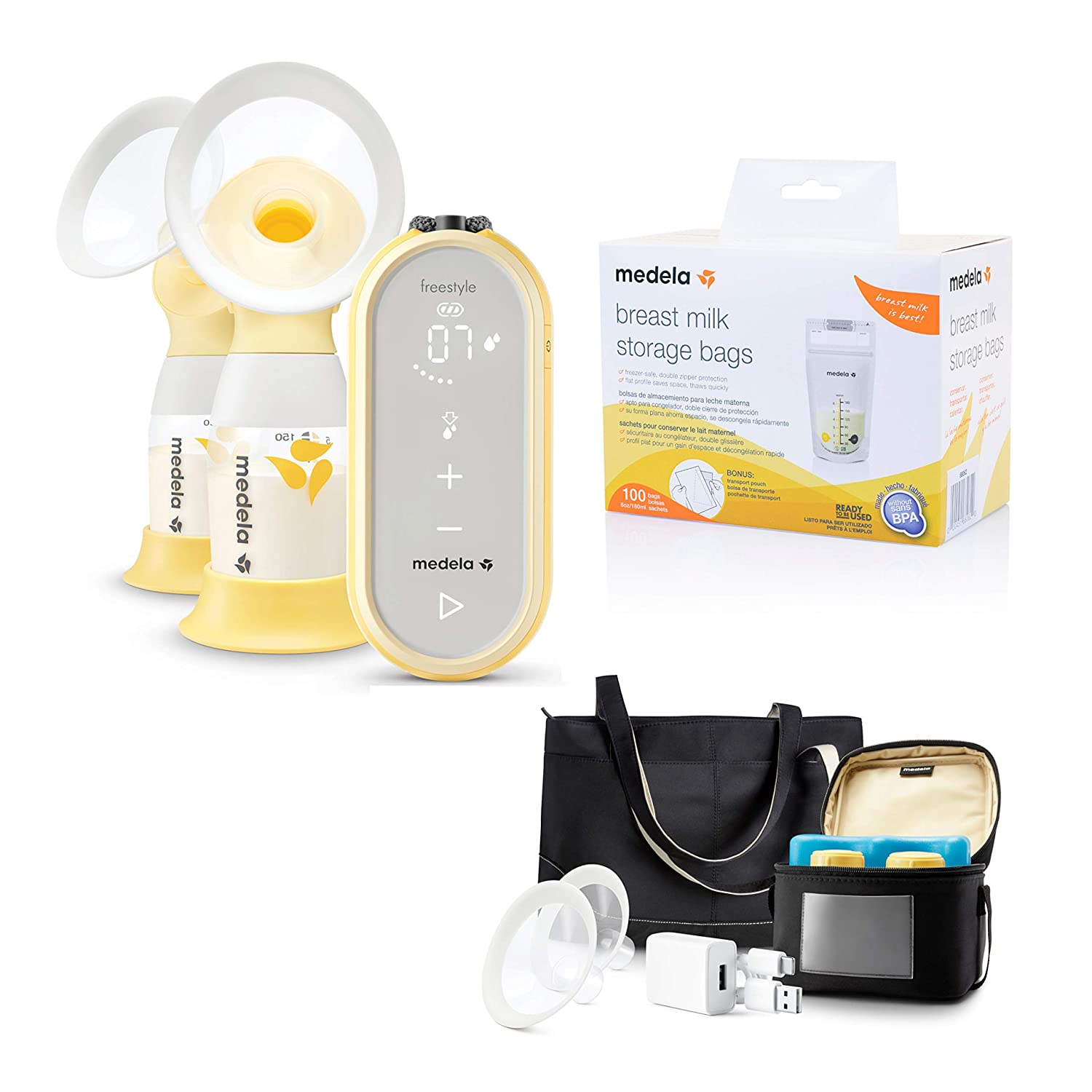 Closed System Quiet Handheld Portable Double Electric Breastpump