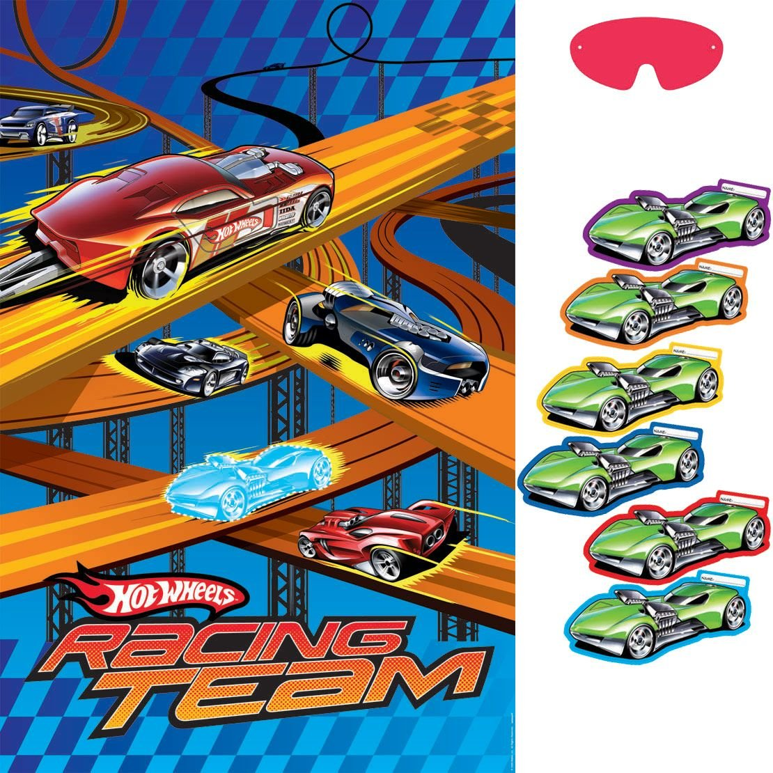 Amscan Hot Wheels Speed City 100cm x 60cm Party Game